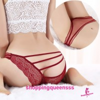 See-Through Thong Panties Woman Underwear Sexy Lingerie (9 Colors) Y3017