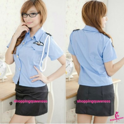 Police Officer Uniform Cosplay Costume Sleepwear Sexy Lingerie Pajamas Q8059
