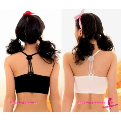 Flower Wrapped Chest Bra Bustier Women Sexy Lingerie (2 Colors) L317