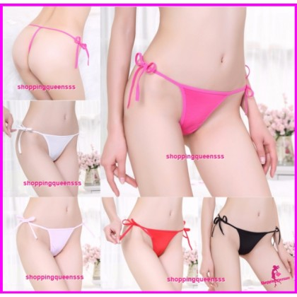 Sexy Women Underwear Sides Tie G-String Thong Panties Lingerie (5 Colors) L291