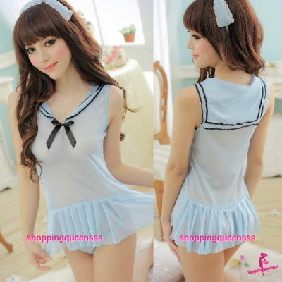Sailor Uniform School Girl Dress Costume Sexy Lingerie Nightwear M7759