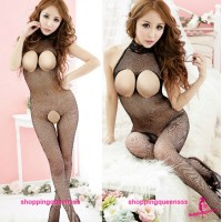 Fishnet Body Stocking Black Sexy Lingerie Sleepwear Open Crotch WL245