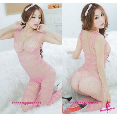 Sexy Lingerie Fishnet Body Stocking Open Crotch Sleepwear Costume Bra WL26