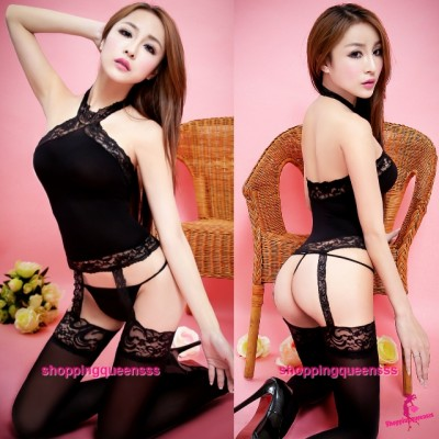 Black Body Stocking G-String Hosiery Sexy Lingerie Sleepwear Costume TS313