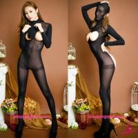 Black Open Breast Open Butt Body Stocking Sexy Lingerie Sleepwear Costume TS337