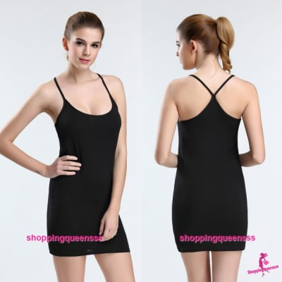Sexy Lingerie Black Women Modal Y-Cross Soft Bottoming Dress Shirt Sleepwear Nightwear Y9070