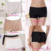 Sexy Women Underwear Seamless Ice Silk Panties Boyshorts Briefs Lingerie (3 Colors) Y1093