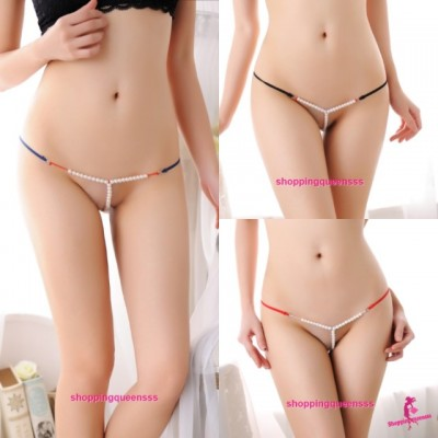 Sexy Women Pearls G-String Panties Underwear Lingerie Nightwear (7 Colors) L160