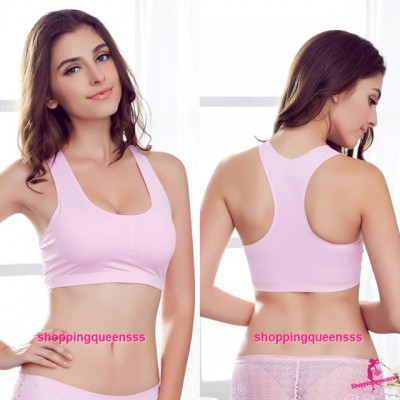 Pink Sexy Seamless Ice Silk Bra Bustier Vest Wrapped Chest With Pad Women Lingerie L1227