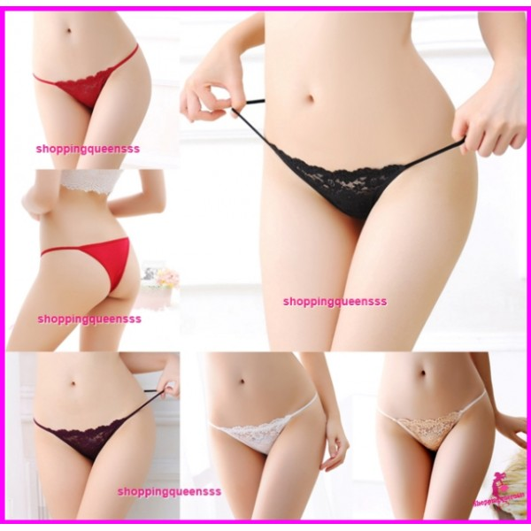 Women Sexy Underwear Lace Panties G-String Lingerie (5 Colors) L231