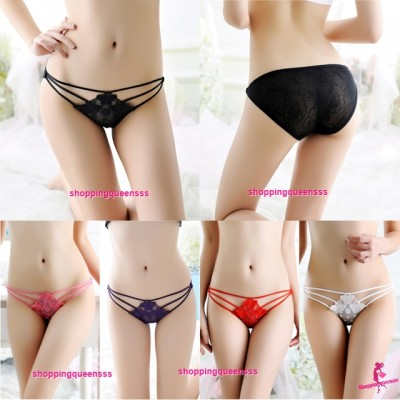 Sexy Women Underwear Butterfly Panties G-String Briefs Lingerie (7 Colors) L982