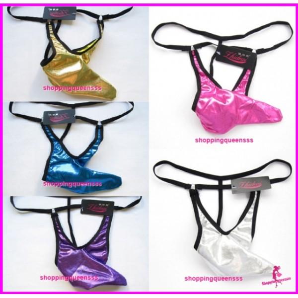 Men Underwear Briefs Men's Thong G-String Sexy Lingerie (5 Colors) L19