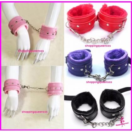 PU Leather Handcuffs SM Bondage Couple / Lover Adult Games (4 Colors) SAH-1