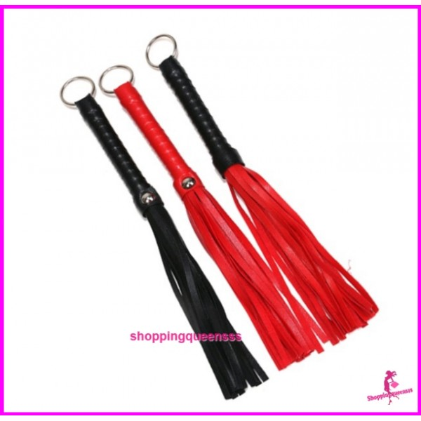 Small PU Leather with Ring Whips Tassels SM Bondage Flogger Adult Games (3 Colors) SAW-3