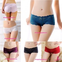 Sexy Women Underwear Floral Boyshorts Panties G-String Lingerie (6 Colors) L1006