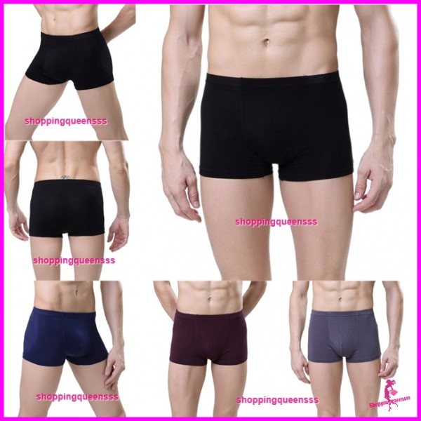 Bamboo Fiber Breathable Men's Underwear Briefs Boxers Sexy Lingerie (4 Colors) L0062