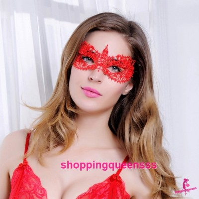Red Eye Mask Cosplay Costume Partywear Sexy Lingerie Accessories LE002