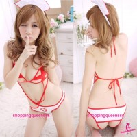 White Nurse Uniform Teddies Costume Cosplay Sexy Lingerie Nightwear TS6625