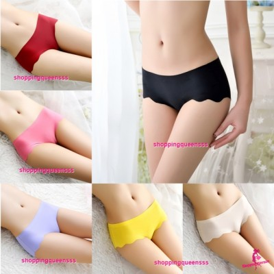 Sexy Wave Seamless Ice Silk Underwear Panties Briefs Lingerie (7 Color) L681