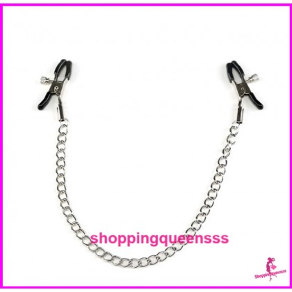 Adjustable Nipple Clamp Chain Clips SM Bondage Couple Adult Games SAN-2