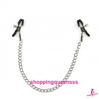 Adjustable Nipple Clamp Chain Clips SM Bondage Couple Adult Games SAN-2