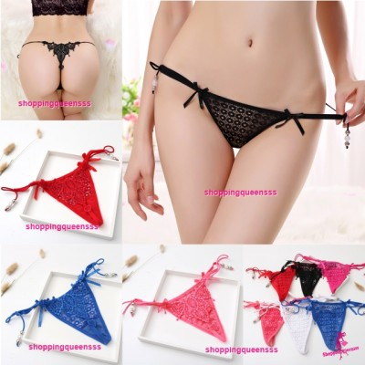 Sexy Women Underwear Sides Tie G-String Thong Panties Lingerie (6 Colors) Y1100