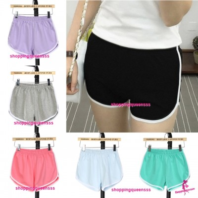 Women 95% Cotton Sport Yoga Gym Shorts Casual Slim Outdoor Running Jogging Soft Short Pants (8 Colors) QDK166