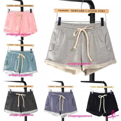 Women Cotton Shorts Casual Outdoor Short Pants (6 Colors) QDK112