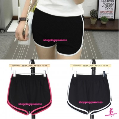 Women 95% Cotton Sport Yoga Gym Shorts Casual Slim Outdoor Running Jogging Soft Short Pants (2 Colors) QDK166-1