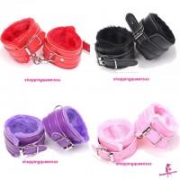 PU Leather Handcuffs SM Bondage Couple / Lover Adult Games (4 Colors) SAH-2