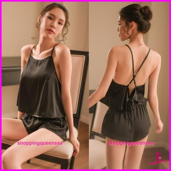 Sexy Lingerie Black Top + Short Sleepwear Nightwear Pyjamas TS1100