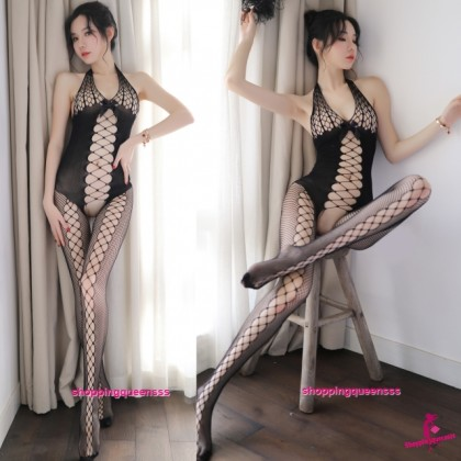 Black Fishnet Body Stocking Hosiery Sleepwear Nightwear Sexy Lingerie WL095