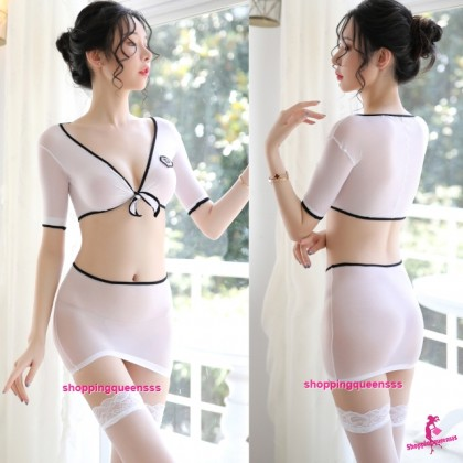 Sexy Lingerie White Body Stocking Costume Nightwear Sleepwear WL20004
